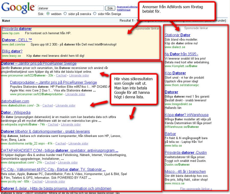 18b1219a Att synas på Google - Hemsida24